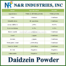Bulk Daidzein Supply 98% HPLC Daidzein Powder N ° CAS 486-66-8