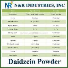 Bulk Daidzein Supply 98% HPLC Daidzein Powder CAS No486-66-8