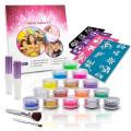 Professional Glitter Tattoo Stencils Glue Kit for Kids