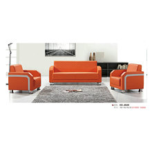 Red Modern Office Sofa, Leather Sofa with Stainless Steel Frame (8509)