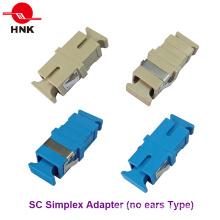 Sc Simplex Pas d'oreilles Adaptateur optique à fibre optique