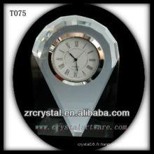 Magnifique horloge en cristal K9 T075