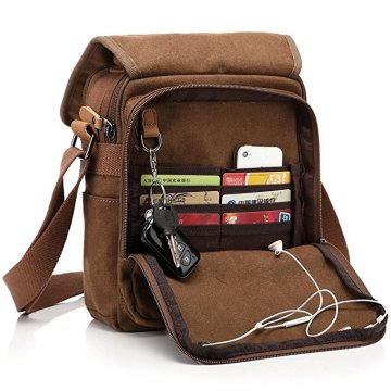 Personalizado Canvas Canvas Crossbody Mens Small Messenger Bag