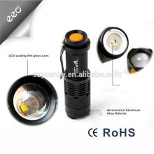 Lampe de poche à la lampe de poche en Chine, meilleur bouton de la lampe de poche