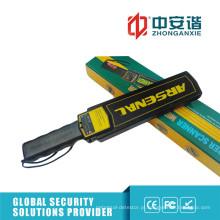 Detectores de metal de segurança de LED de alto brilho com interruptor de ajuste de sensibilidade