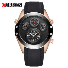 custom brand quartz watch silicone strap wristwatch
