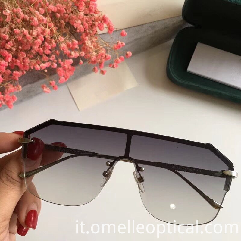 Reflective Rimless Sunglasses