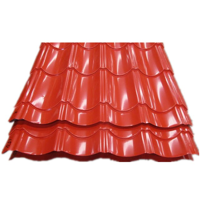 Red Colored Glazed Steel Sheet