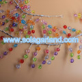 Faceted Crystal Bead Garland Wire Beaded Branch
