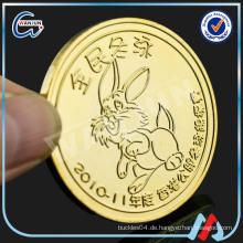 Kupfer leere Gold Herausforderung Münze