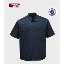 Camisas de trabajo uniformes del trabajo del algodón del poliéster de TC 65/35 de la alta calidad