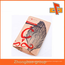 Nuevos productos calientes para el bolso de café kraft marrón 2015 con la impresión de la alta calidad de la muesca del rasgón