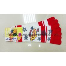 Frau Dame Printing Toe Socken