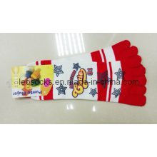 Woman Lady Printing Toe Socks