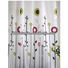 printed shower curtain pvc