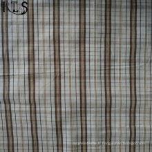 Le tissu tissé de fil de popeline de coton a teint pour des chemises / vêtements RL40-40po de vêtements
