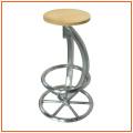 Runde MDF und Aluminiumrohr Bar Tisch Bartisch für Bar Möbel