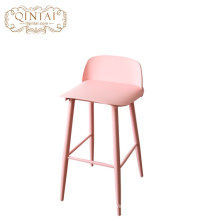 Wholesale Modern Plastic Metal  Plastic high Bar Stool Cafe Chair