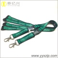 Heat transfer printing green lanyard necklace keychain