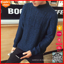Späteste Modekabel Strickpullover Muster Marine Kaschmir Pullover für Männer