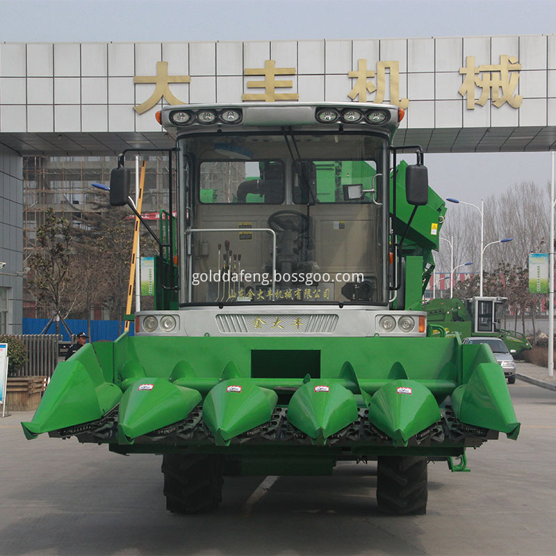 self-propelled corn harvester