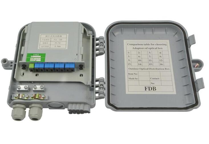 Ftth Distribution Box Ip65 8 Cores