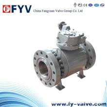 API6a Válvula de esfera de pressão-vedação fixa com engrenagem