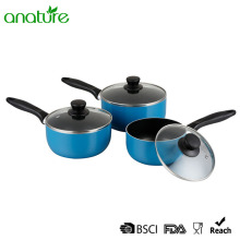 3 Pieces Blue Non Stick Sauce Pot Set