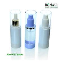 2016 heißer Verkauf 50 ml Runde Form Spray Kunststoff Pet Flasche