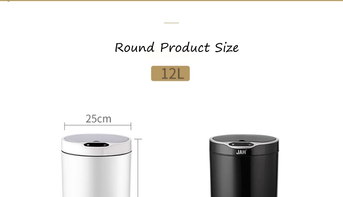 Round Garbage Bin with Sensor Lid