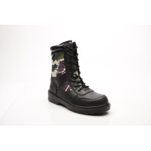 New Designed Hot Sell Smooth Leather & Fabric Safety Boots (HQ6002)