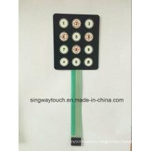 Interruptores de teclado tipo membrana plana