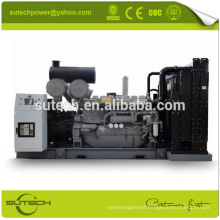 Containerized or Open type 1250kva silent diesel generator powered by UK original Perkin engine 4012-46TWG2A
