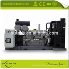 Containerized ou Open tipo 1250kva gerador diesel silencioso alimentado por motor Perkin original do Reino Unido 4012-46TWG2A
