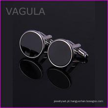 VAGULA qualidade Onyx Gemelos casamento Cuff Links novos botões de punho (HL62272)