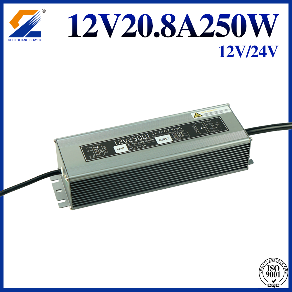 IP67 Waterproof Power Supply 12V 20A 250W
