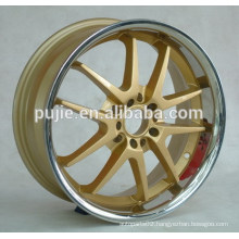 18x7.5 5x114.3 polish lip alloy wheels
