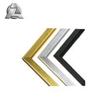 Profilé d'extrusion en aluminium satiné brossé pour cadre photo et photo