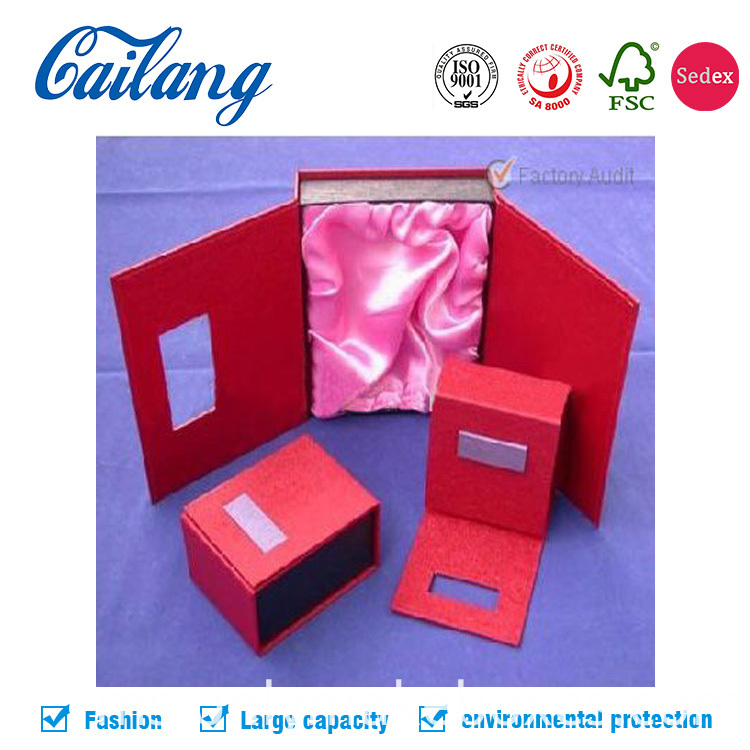 double door jewellery paper packaging box