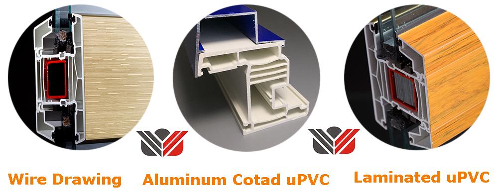 Triple glass uPVC Profile for window