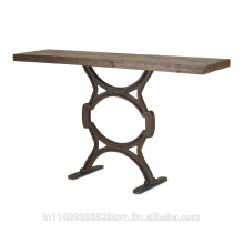 Wood Iron Console Table