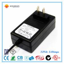 CCTV Fuente de alimentación 12V 3A LED fuente de alimentación para LED y cámaras CCTV