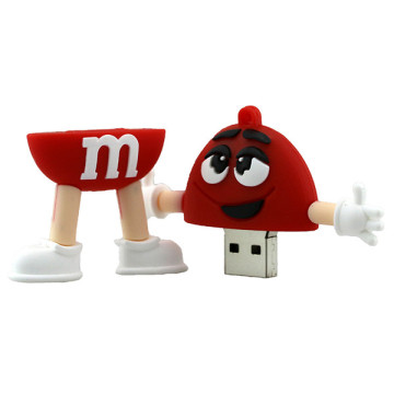 Lovely Cartoon Chocolate Bean USB Flash Drive