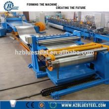Fabricant Factory High Speed économique en acier laminé bobine ligne de coupe avec récupérateur et rebobinage