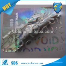 Etiqueta engomada colorida del balance de energía del holograma del arco iris de la protección de la marca de fábrica
