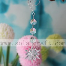 Crystal Fancy Light Glass Big Flower Chandelier Acrylic Garland Trimmings For Christmas Tree Decoration