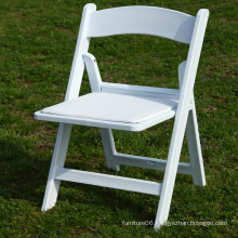 PP Resin Wedding Folding Chair White Padded Resin Folding Chair