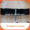 Real Fur Rex rabbit fur trim