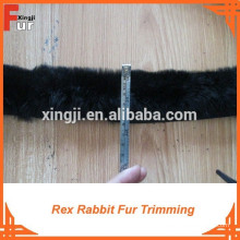 Натуральный мех Рекс кролика меховой отделкой