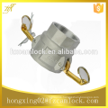 "Aluminum Camlock Couplings, type D , size from 1/2"" to 8"""